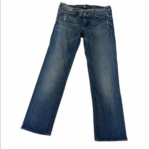 7 FOR ALL MANKIND Crop Straight Leg Distressed 26